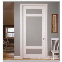 White Color Interior Room French Door with Frosted Glass, Toilet Glass Door S1-1009