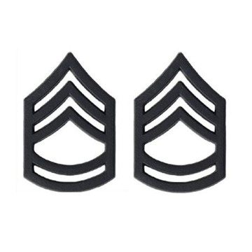 US Sargento Sargento Major Black Collar Device Rank