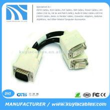 59pin DVI Splitter Kabel, um das Videosignal von Ihrem DMS-59 DVI Video Ausgang auf zwei separate Monitore aufzuteilen