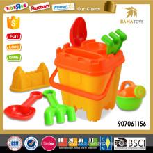 Whosale plástico playa baldes juguete