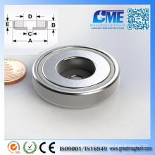 Leistungsstarke Neodym-Magnet Ring N40 Topf Seltene Erde Magnete