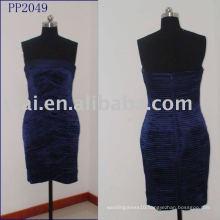Sexy Navy Blue Velvet Pleated Short Prom Dress PP2049