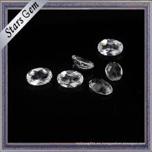 Topacio natural blanco claro de la forma oval para la joyería de la manera