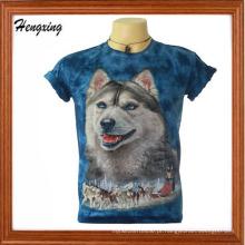T-shirt de algodão bordado para homem