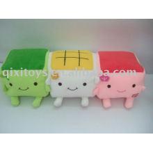stuffed plush tofu mobile phone holder