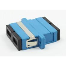 SC / PC Siglemode Duplex Adaptador de fibra óptica con brida