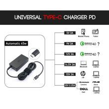 Type C Pd Charger 45W for Lenovo HP DELL Laptop