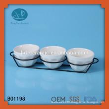 white ceramic bowl set , custom design ceramic snack bowl , restaurant used ceramic bowl set