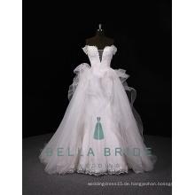 Braut wechselnde Kleider königliche Brautkleider elegante Prinzessin Brautkleider mit abnehmbarem Zug