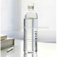 320ML Promotion Handblown Borosilicate Recycled Pyrex Glass Water Bottle With Handling String Lid