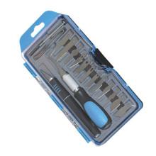 18PCS Hobby Knife Set Embalagem de caixa de plástico