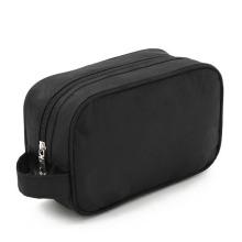 Bolsa de Toalete Lady Fashion Black Nylon Clutch para Cosméticos para Lavagem (YKY7514)