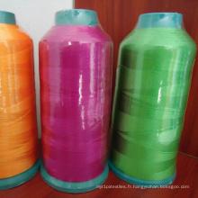 Fil à broder coloré bon marché de polyester