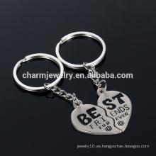 """Mejor amigo Llavero cadena de regalos """"mejores"""" pares clave llavero para el amante YSK011"""