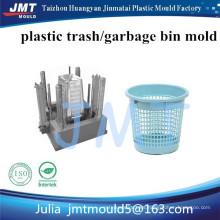 fabricante de moldes de inyección de plástico de papelera de papel de basura de alta calidad personalizado