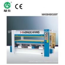 Automatic hydraulic veneer hot press