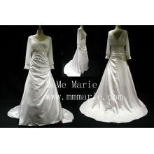 Мусульманские Тафта и шифон низкая задняя часть ткани свадебные платья БЫБ-14590