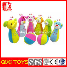 Wholesale education soft toys bowling baby soft toys
