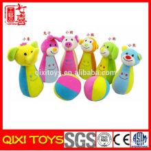 Wholesale educação brinquedos macios boliche bebê brinquedos macios