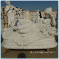 European Life Size White Marble Nude Lady Statue
