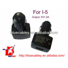 Cargador de coche USB 5V1.2A para iPhone 5