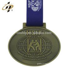 2018 Promotionnel sport en métal pas cher prix médailles vierges avec ruban