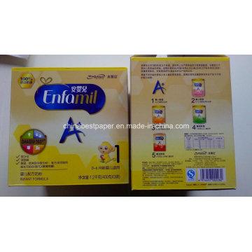 Venta directa de la fábrica de color marfil cuadro de caja plegable 325g