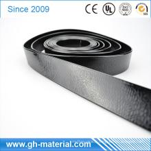Les modèles gaufrés noirs de Shinny imperméabilisent la sangle de polyester soudable de vinyle de PVC