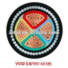 BS 5467 0.6 / 1KV Cable de acero acorazado SWA XLPE cable