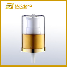 Aluminium cosmetic lotion pump with AS overcap