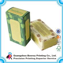 Caixa de sabão de papel de embalagem decorativa colorida personalizada