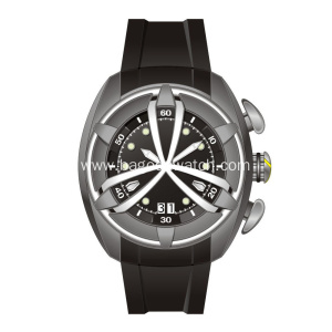 Stainless steel shark mens wrist watches