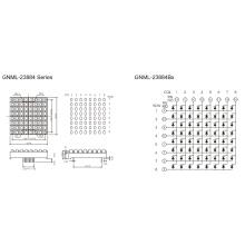 2,3 дюйма, 5,0 мм эллипсированная матрица (GNML-23884Ax-Bx)
