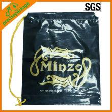 Impresión de alta calidad personalizada bolsa de plástico con cordón bolsa de plástico a prueba de agua con cordón mochila bolsa de playa