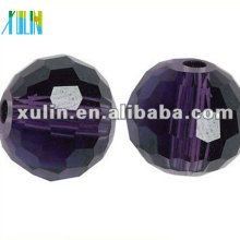 Grânulo redondo de vidro lapidado cristal da costa dos tesouros do tesouro de 20mm 5003 #