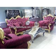 Sofá clásico francés púrpura A10114
