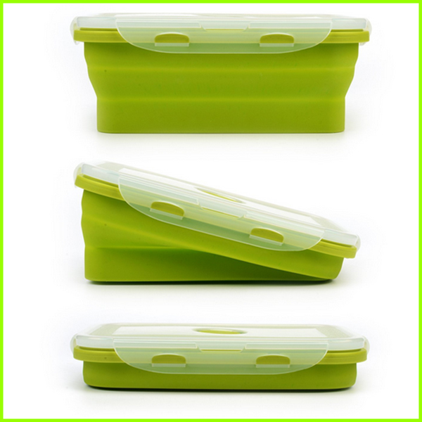 4 Pack BPA Free Silicone Lunch Bento Bowl