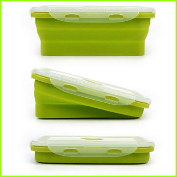 Set di 4 Lunch Box pieghevoli in silicone