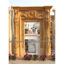 Puerta del arco del granito de mármol de la piedra para la puerta de la arcada que rodea (DR034)