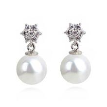 Pearl One Sided Ball Beads Ear Stud Plug Earrings