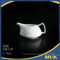 china supplier royal hotel use white porcelain pot
