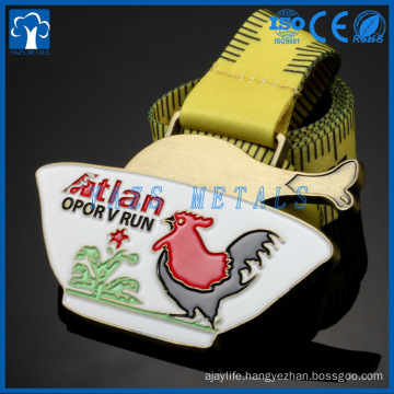 customized animal fowl and flower metal medals