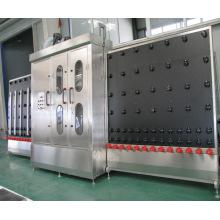 Máquina de lavar vidro vertical com um par de ar faca