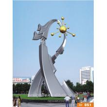 Erfolgreiche Fall-Edelstahl-abstrakte Kunst-Skulptur / moderne große Landschafts-Statue