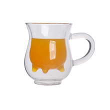Mug Double Wall Tumbler Cup Water Drinking Glass Coffee Cups with Lid