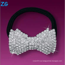 Elegante banda de cristal de pelo completo francés, banda de pelo de lujo para damas, banda de pelo de joyería