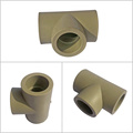 Water Supply Plumbing Materials High Quality Ppr Pipe Fittings Plastic Pure Ppr Equal Tee For Ppr Pipe