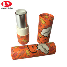 Cylinder Lipstick Carton Private Logo Packaging Box Custom