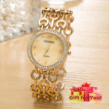 Relógio de liga de luxo novo Relógio de quartzo de cinto Elegance Relógio de quartzo Cestbella Relógio de presentes especiais