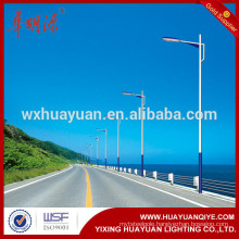tapered round street lighting pole with powder coating